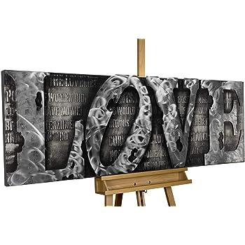 Kunstloft Extravagante Relieve de Pared de Metal More Than Letters 150x50x6cm   Decoración XXL Escultura   Love Amor Palabra Gris   Cuadro Hecho a Mano Imagen Mural de Arte Moderno: Amazon.es: Hogar