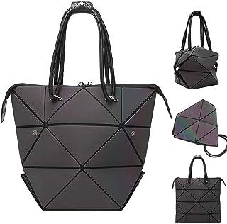 Geometrische Taschen Henkeltaschen Mode Shopper Damen Groß Veränderbare Form Schultertaschen Leuchtende Holographische Fra...