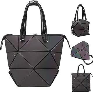 Woman Handbag Luminous Handbag Lattice Design Geometric Bag Top Handle Satchel Purse Large Shoulder Bags Shopping Handbags for Women-Changeable Shape
