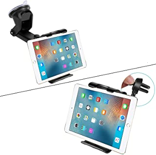 "Car Dashboard Windshield Tablet Mount, 7""-10.5"" Tablet Holder, 4.5""-6.5"" Phone Mount, Compatible iPad Pro 10.5/Air/Mini/iP..."