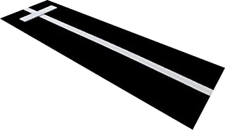 All Turf Mats PBBK36120 3' x 10' Black Softball Pitchers Pitching Mound Mat with Power Line Mark Your Stride Length and Location with Chaulk (Not Included)