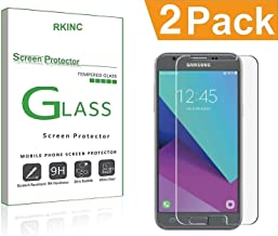 RKINC Screen Protector for Samsung J3V 2018(3rd Gen), Tempered Glass Screen Protector[0.3mm, 2.5D][Bubble-Free][9H Hardness][Easy Installation][HD Clear] forSamsung Galaxy J3V 2018(3rd Gen)(2 Pack)