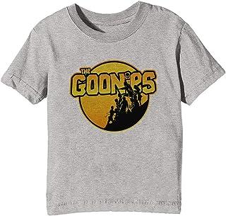 Erido The Goonies - Ver 1 Niños Unisexo Niño Niña Camiseta Cuello Redondo Gris Manga Corta