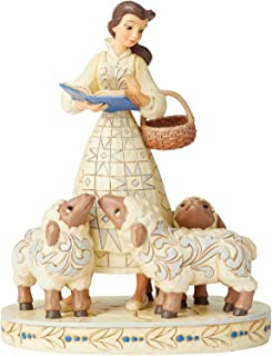 Enesco Disney Traditions by Jim Shore White Woodland Beauty and The Beast Bell Figurine, 8.3 Inch, Multicolor