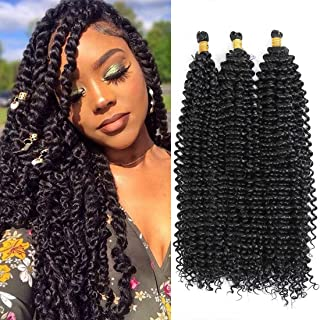 20inch Passion Twist Hair Water Wave Crochet Braids Synthetic Bohemian Hair Extensions Pre-twisted Passion Braiding Hair Kima Ocean Wave Crochet Hair