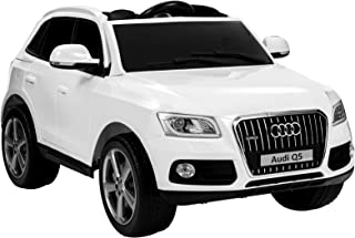 Uenjoy 12V Audi Q5 Electric Kids Ride on Cars Battery Powered SUV Motorized Vehicles W/Remote Control, Wheels Suspension, Music, LED Light, White