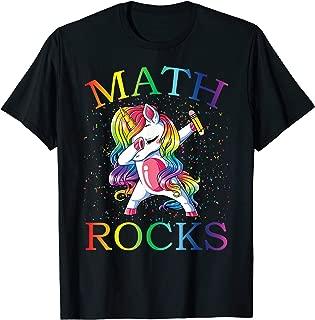 Dabbing Math Rocks Unicorn T-Shirt 1st day Of School