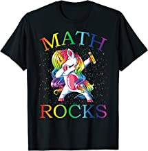 Dabbing Math Rocks Unicorn T-Shirt 1st day Of School