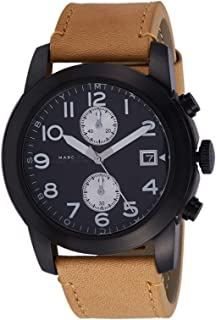 Marc by Marc Jacobs Men's Black Dial Leather Band Watch - MBM5053