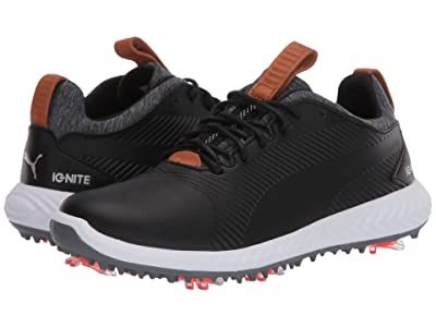 PUMA Golf Ignite Pwradapt 2.0 (Little Kid/Big Kid) (Puma Black/Puma Black) Shoes