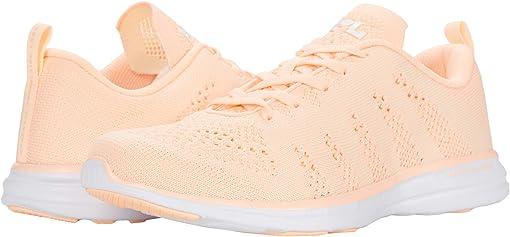 Pastel Peach/Zest/White