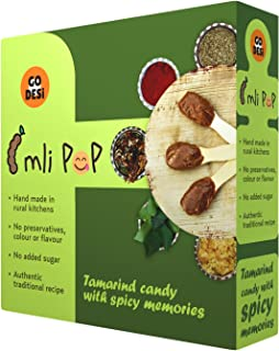 GO DESi 'Imli Pop': Tamarind, Jaggery Candy with Indian Spices (No Added Sugar & Preservatives) (40 Piece Pack)