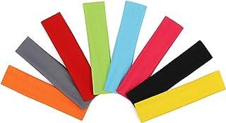 comprar comparacion AYPOW Diadema de algodón para Yoga, 8 Piezas de Color Surtido elástico elástico Antideslizante, Sudadera con Capucha para ...