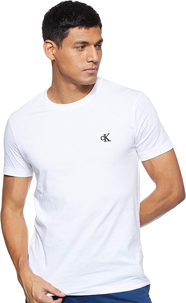 Calvin Klein CK Essential Slim Tee T-SHIRT, Maglietta PER Uomo MANICHE CORTE, 100% Cotone J30J314544