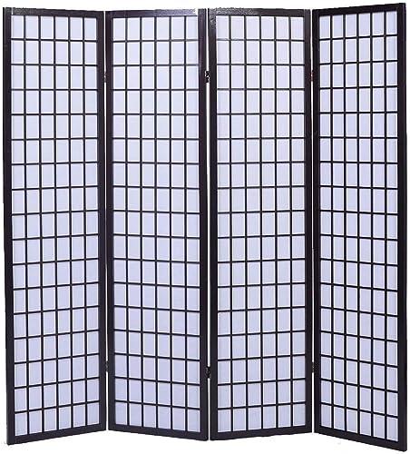 popular Giantex 4-Panel Room Divider Solid outlet online sale Shoji Wood outlet online sale Folding Privacy Screen Cherry online