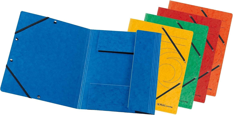 Sales Herlitz A4 3-Flap File with Elastics Assorted Portland Mall 10 Piec Colours -