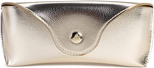 A Sund Portable Leather Sunglasses Case Women Lightweight Soft Eyeglasses Pouch Eyewear Bag for Men Ladies Girls