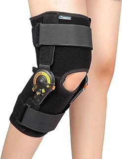 Nvorliy Hinom ROM Knee Brace زانو قابل تنظیم قابلیت تضعیف کننده زانو برای آرتروز ، ACL ، PCL ، پارگی مینیسک ، تاندون ، استئوآرتریت ، Post OP Recovery - تثبیت کننده پا برای مردان