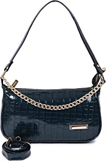 STYLO G Synthetic Croco Leather Casual Travel Chain Shoulder Deatachable latest Slingbag For Women/girls
