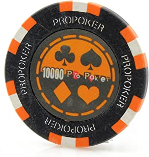Versa Games Pro Poker Chips in 13.5 Gram Weight - Pack of 50 (Choose Colors)
