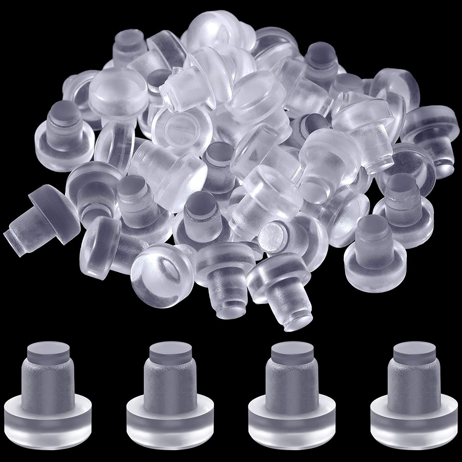Super sale Glass Top Table Bumpers with Stem Soft wholesale Grippers Rubber Cle Clear