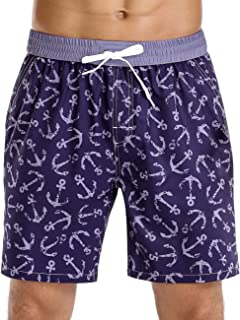 Nonwe Men's Quick Dry Soft Relaxed Fit Drawstring Swim Trunks