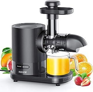 Extracteur de Jus, Acezoe Slow Juicer Presse à Froid Machine avec moteur silencieux, Sans BPA, 2 Filtres/Tasse à Jus/Bross...