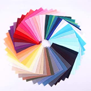 """JYRibbon 50 PCS 10"""" x 10"""" Cotton Fabric Gradient Color Solid Flat Cotton Fabric Squares for Quilting Sewing Patchwork Cloths DIY Scrapbooking Art&Craft"""