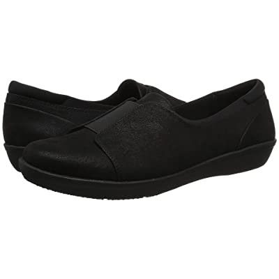 Clarks Ayla Band (Black Synthetic Nubuck) Women