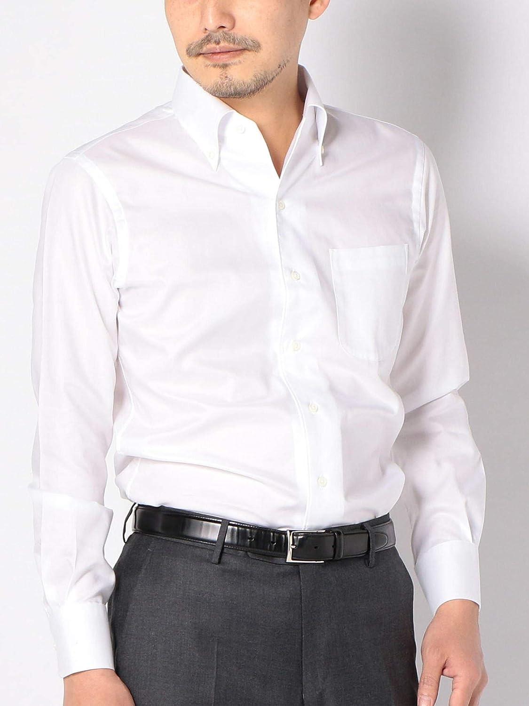 [シップス] シャツ 長袖 ALBINI オックスフォード ソリッド イタリアンボタンダウン メンズ 111135412