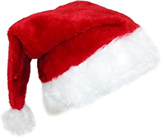 CTM® Deluxe Plush Trim Santa Novelty Holiday Hat (Pack of 2)