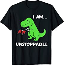 T-rex Dinosaur I Am Unstoppable T-shirt Xmas