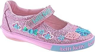 Lelli Kelly (LK 9080 Pink Glitter Daisy Sparkle Adjustable Dolly Shoes - Size US 12 / EU 30
