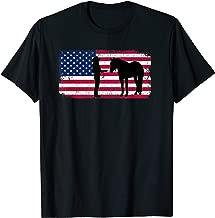 Halter Horse Western Horse Showmanship American Flag Design T-Shirt
