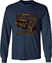 Genuine Junkyard Garage Hot Rod Men's Long Sleeve Rat Design Men's Tee
