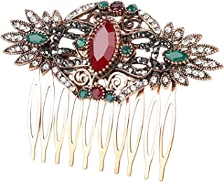Hair Clip Hot Vintage Turkish Bride Wedding Hair Accessories Red Flower Hair Combs Hair Needles Head Jewelry For Women Mad...