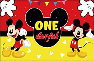 Party Tableware Red Party Decorations Supplies Set Mickey Mouse Birthday Banner Flags Cup Plate Mickey Party Tablecloth (C...