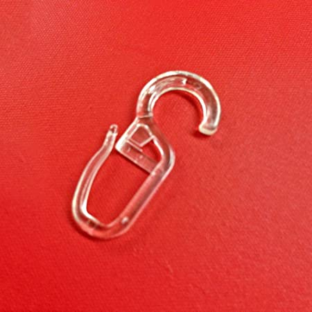 200 Stück Faltenhaken Gardinenhaken Faltenlegehaken Gardinen Ringe 5 mm Öse
