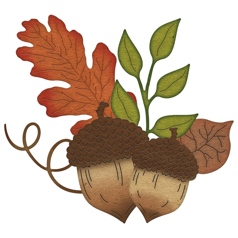 Cheery Lynn Designs Acorns and Leaves Scrapbooking Die Cut Set, 6 Piece