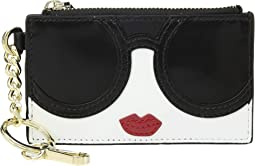 Regina Stacey Face Zip Top Card Case