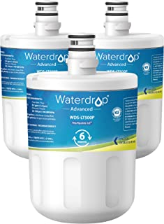 Waterdrop NSF 53&42 Certified Refrigerator Water Filter, Compatible with LG LT500P, 5231JA2002A, ADQ72910901, Kenmore GEN11042FR-08, 9890, 46-9890, Advanced Series, Pack of 3