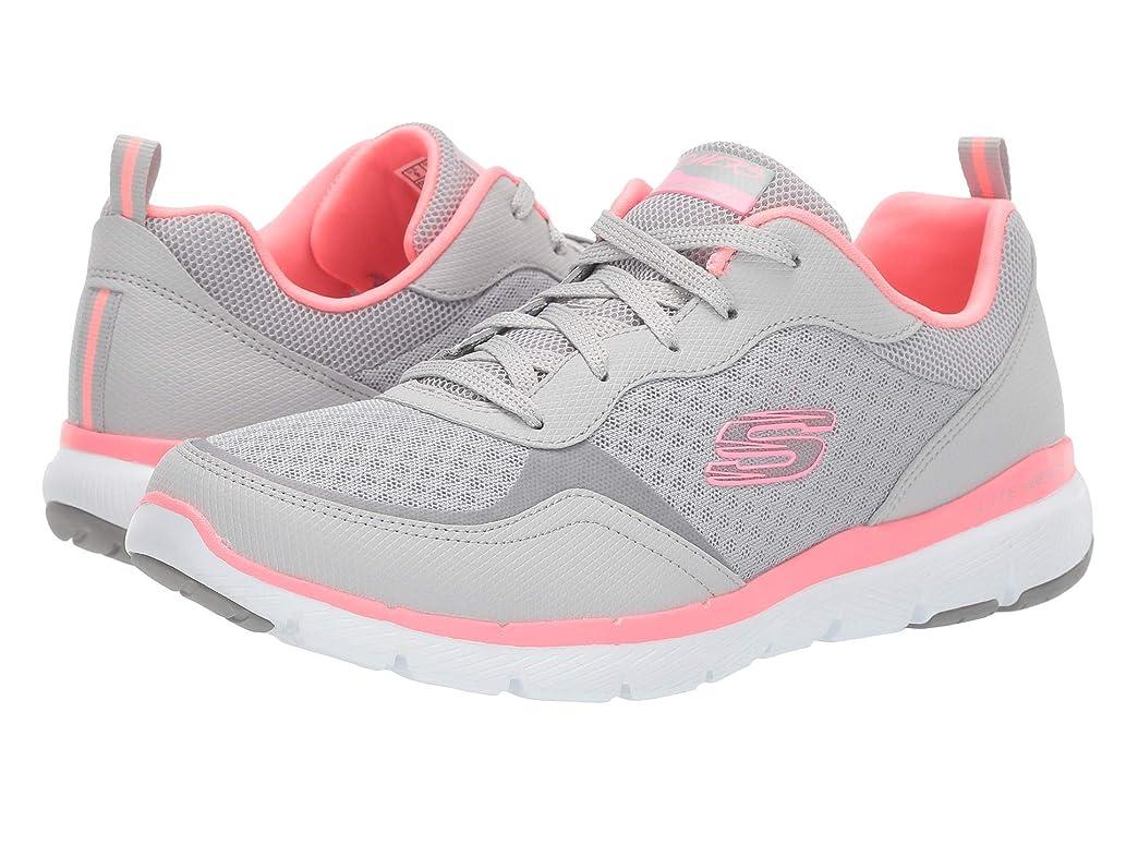 宇宙の治世放つレディーススニーカー?ウォーキングシューズ?靴 Flex Appeal 3.0-Go Forward Light Grey/Hot pink 8 (25cm) B [並行輸入品]
