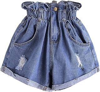 a02f5f86f4f Milumia Women s Casual High Waisted Hemming Denim Jean Shorts Pockets