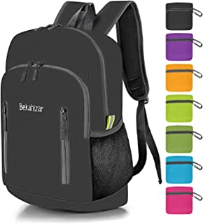Bekahizar Lightweight Backpack Foldable Hiking Daypacks Water Resistant Small Packable Travel Day Bag Pack for Men Women Kids Outdoor Camping Walking Cycling Sports Day Trips