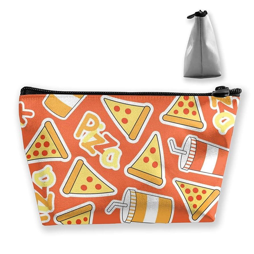 台風浮浪者ファーザーファージュ収納ポーチ ピザとコーラ 化粧ポーチ トラベルポーチ 小物入れ 小財布 防水 大容量 旅行 おしゃれ