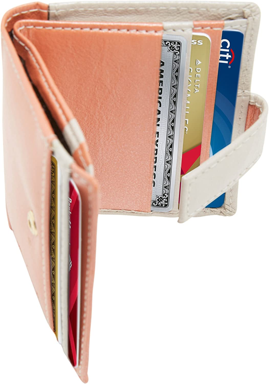 Access Denied Womens Minimalist RFID Blocking Leather Slim Bifold Wallet