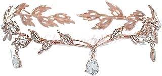 Wiipu Elegant Rhinestone Leaf Wedding Headpiece Headband Bridal Tiara Crown(B630)