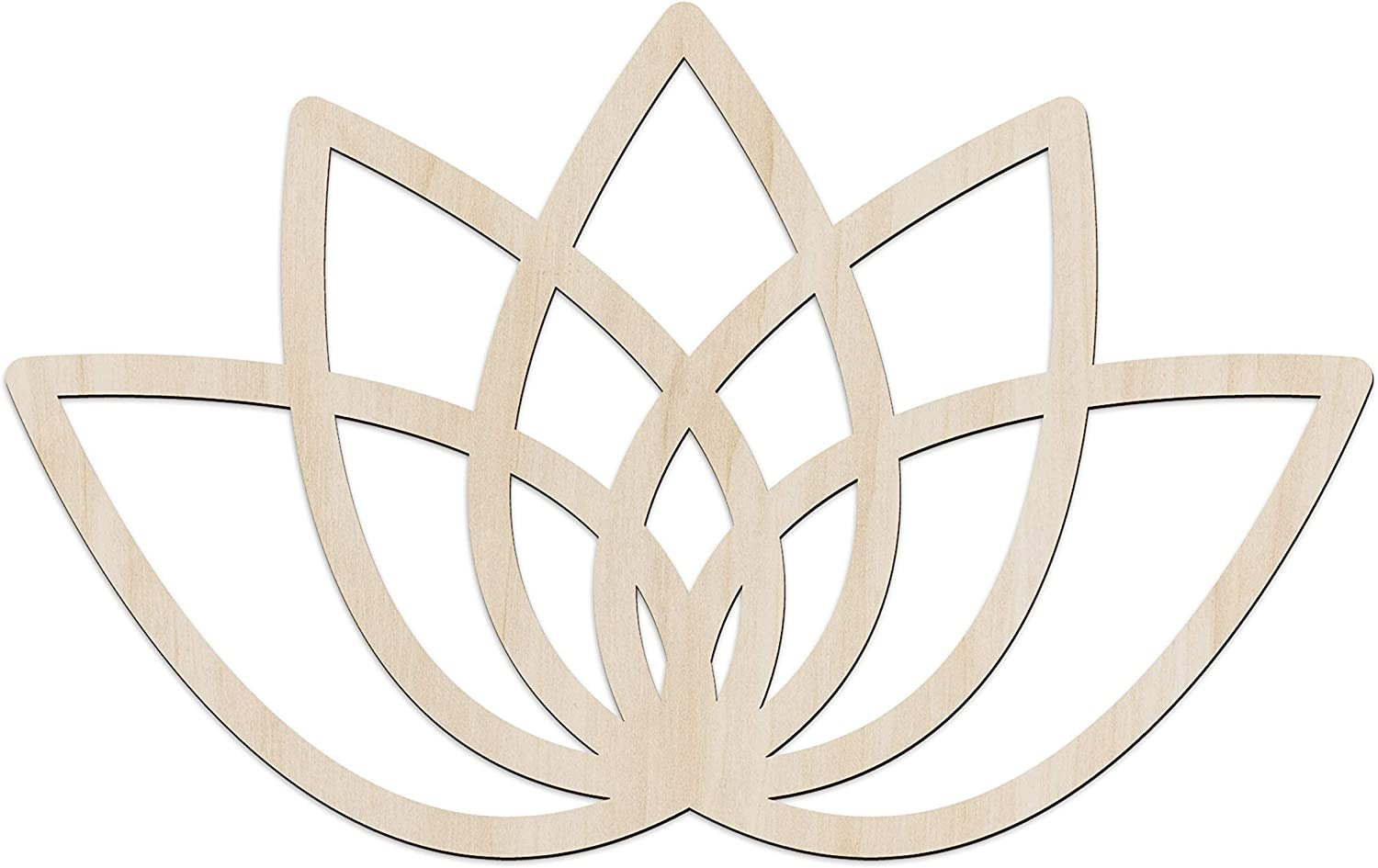 Ambesonne Mandala Wooden Wall Art, Simple Grid Lotus Petals Flower Spring, Birch Wood Plywood Rustic Wall Art Accent for Hallway Bedroom Living Room Cafes and Offices, 11.4
