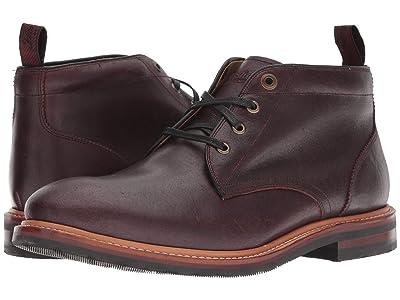 Florsheim Foundry Plain Toe Chukka Boot (Burgundy CF Stead) Men