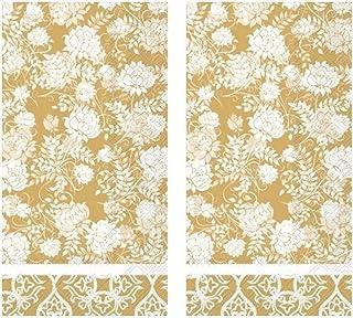 Classic Garden Gold 3-Ply Paper Guest Towels Napkins, 32-Count Dinner Buffet Serviettes